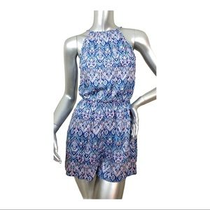 Women's H&M Divided Blue Pink Romper High Neck